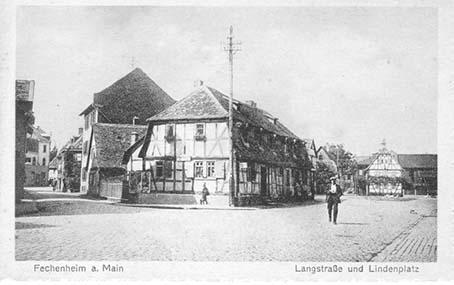 Alte Postkarte mit dem Namen Lindenplatz